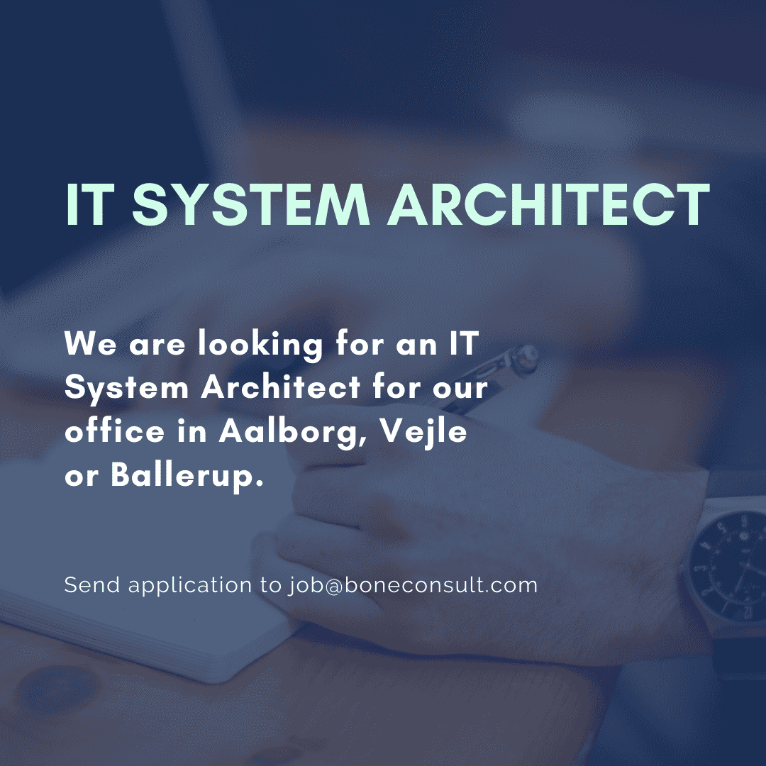 We are looking for an IT System Architect